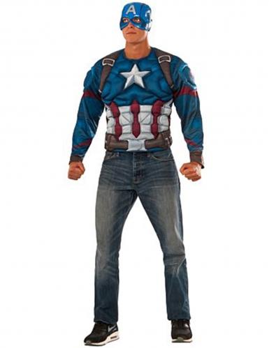 Camiseta musculosa y máscara Capitán América Civil War™ adulto