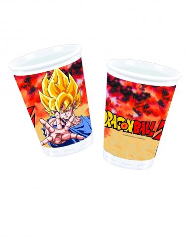8 Vasos de plástico Dragón Ball Z™ 200 ml