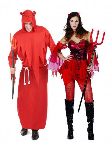 Disfraz pareja diablo adultos Halloween