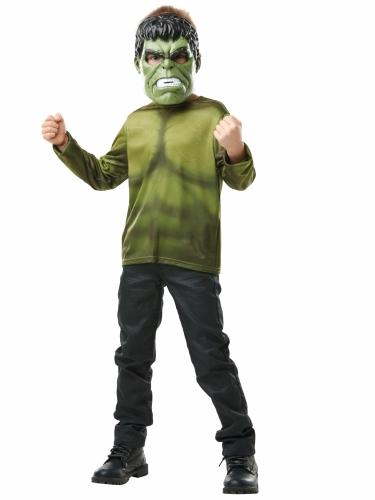 Camiseta con máscara Hulk™ niño-1