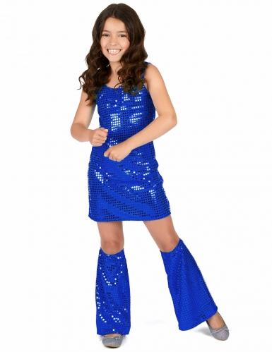 Disfraz disco azul añil niña-1