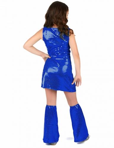 Disfraz disco azul añil niña-2