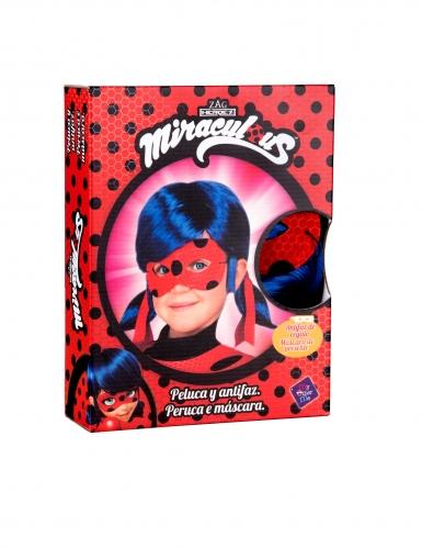Peluca y máscara Ladybug™ niño en caja-1