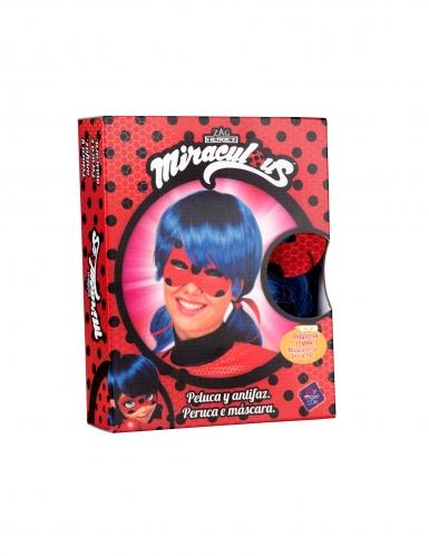 Peluca y máscara Ladybug™ adulto en caja-1