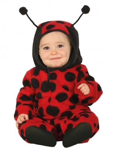 Disfraz de mariquita mono con capucha bebé