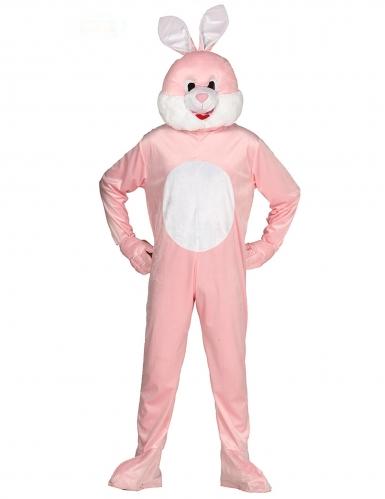 Disfraz de mascota conejo rosado adulto
