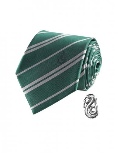 Réplica corbata de lujo con pin Slytherin Harry Potter™