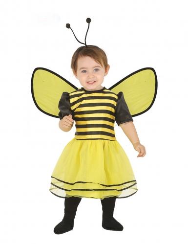 Disfraz vestido de abeja con diadema bebé