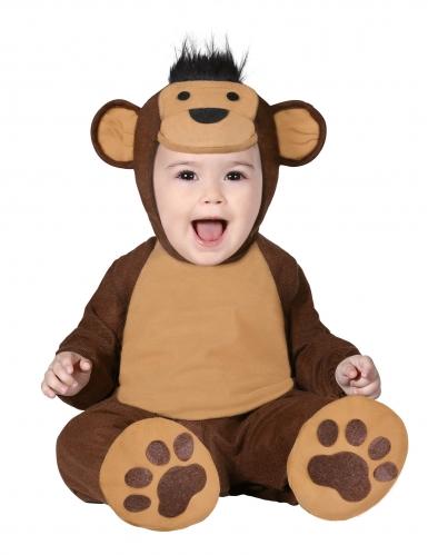 Disfraz traje completo mono marrón para bebé