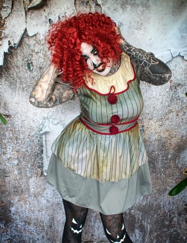 Disfraz payaso enloquecido mujer-3