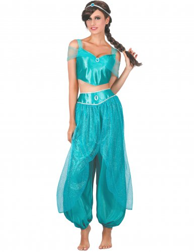 Disfraz princesa árabe azul mujer