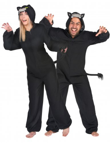 Disfraz de pareja pantera negra adulto
