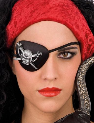 Parche pirata con calavera adulto