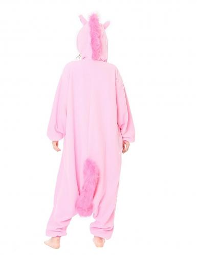 Disfraz Kigurumi™ unicornio rosa adulto-1