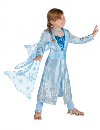 Disfraz Princesa azul glacial niña-1