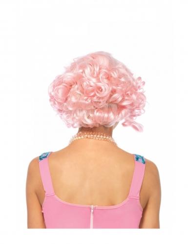Peluca lujo corta rosa mujer-1