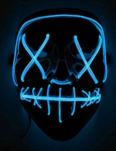 Máscara LED luz azul adulto