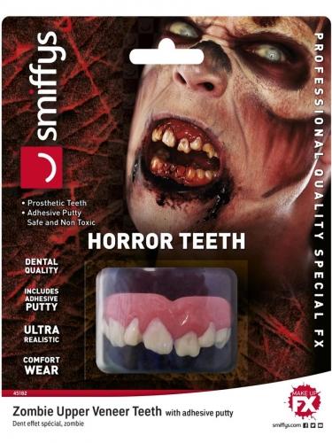 Dentadura de zombie lujo ultra real adulto