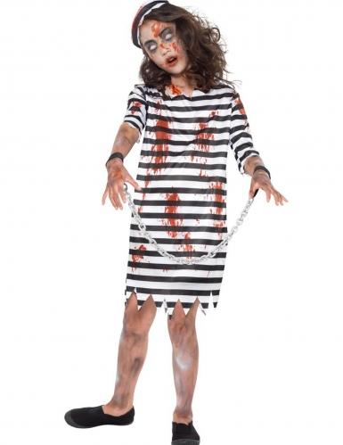 Disfraz prisionero encadenado zombie niña: Disfraces niños,y disfraces originales baratos - Vegaoo
