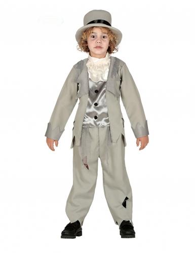 Disfraz novio fantasma gris niño