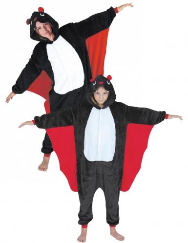 Disfraz pareja mono murciélago adulto y niño