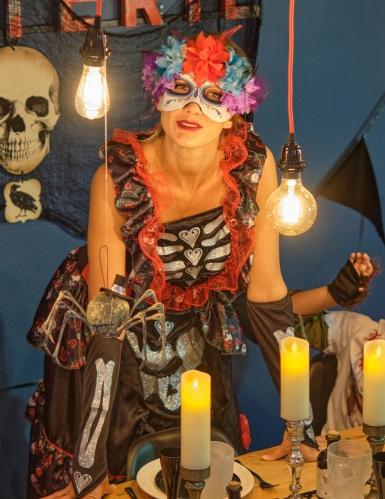 Disfraz Día de los muertos encantadora mujer-3