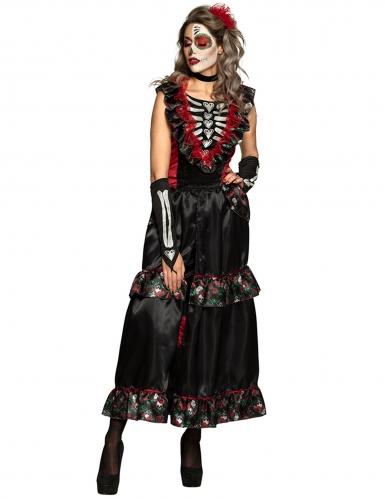 Disfraz Día de los muertos encantadora mujer-1