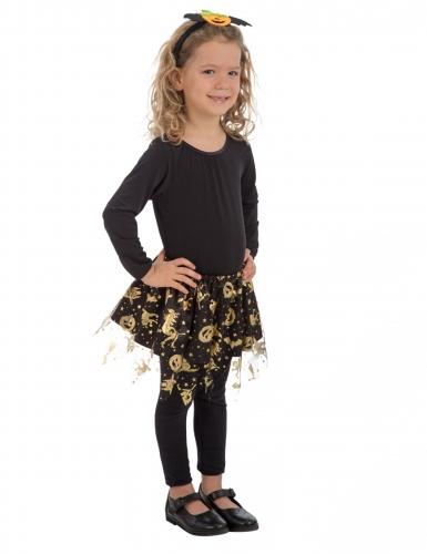 Tutú negro y oro Halloween niña