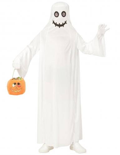 Disfraz fantasma blanco niño -1