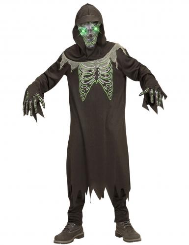 Disfraz segador negro y verde niño -1