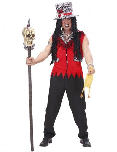 Disfraz sacerdote vudú rojo hombre