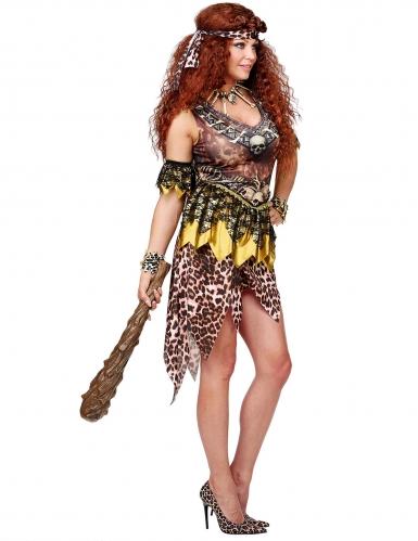 Disfraz líder vudú leopardo mujer-2