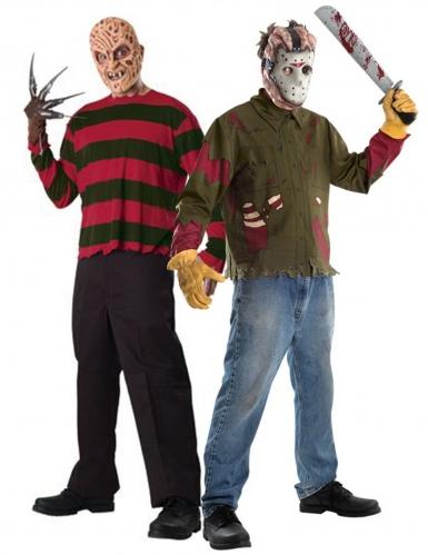 Disfraz de pareja Freddy contra Jason adulto
