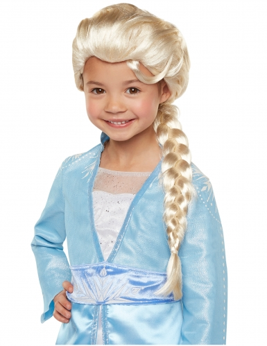 Peluca de lujo Elsa Frozen 2™ niña