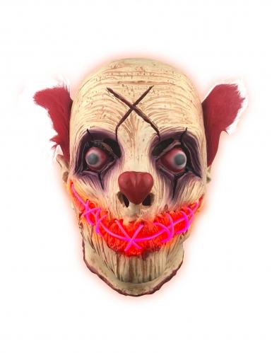Máscara látex luminosa payaso adulto