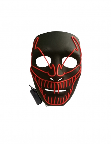 Máscara LED lujo payaso malo adulto