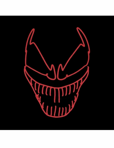 Máscara LED lujo payaso malo adulto-1