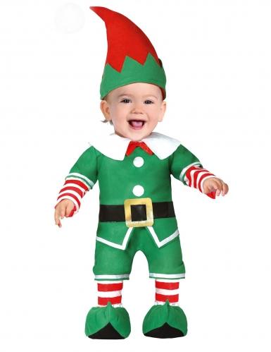 Disfraz de elfo de Navidad bebé