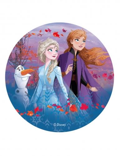 Disco oblea Frozen 2™ Anna, Elsa y Olaf 20 cm