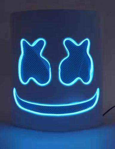 Máscara de malvavisco LED azul adulto