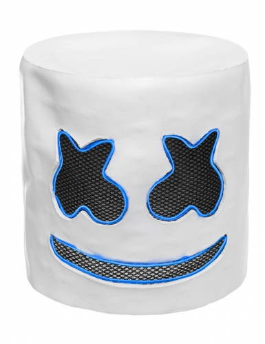 Máscara de malvavisco LED azul adulto-3