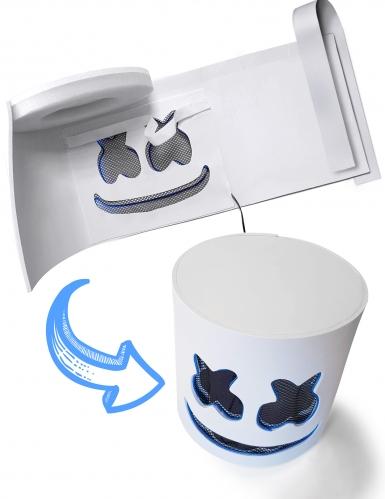 Máscara de malvavisco LED azul adulto-2
