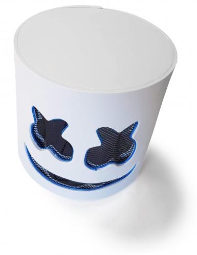 Máscara de malvavisco LED azul adulto-4