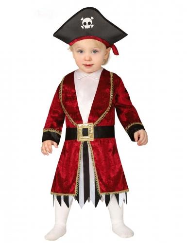 Disfraz vestido pirata bebé