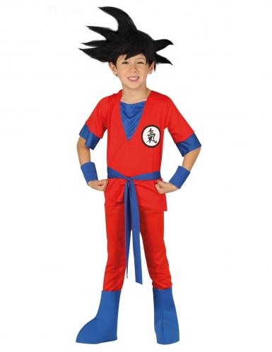 Disfraz de ninja manga rojo niño