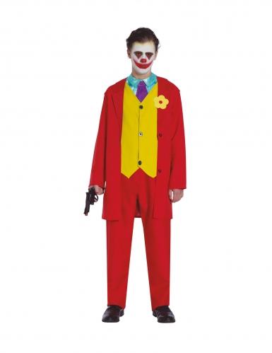 Disfraz payaso rojo loco adolescente