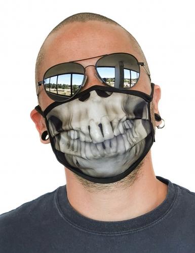 Mascarilla dibujo esqueleto adulto
