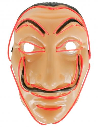 Máscara de ladrón LED rojos adultos-1