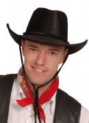 Sombrero de vaquero negro para adulto