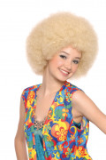Peluca rubia afro disco para adulto